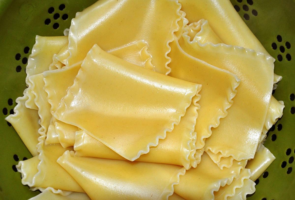 Lasagna Doppia Riccia, cooked