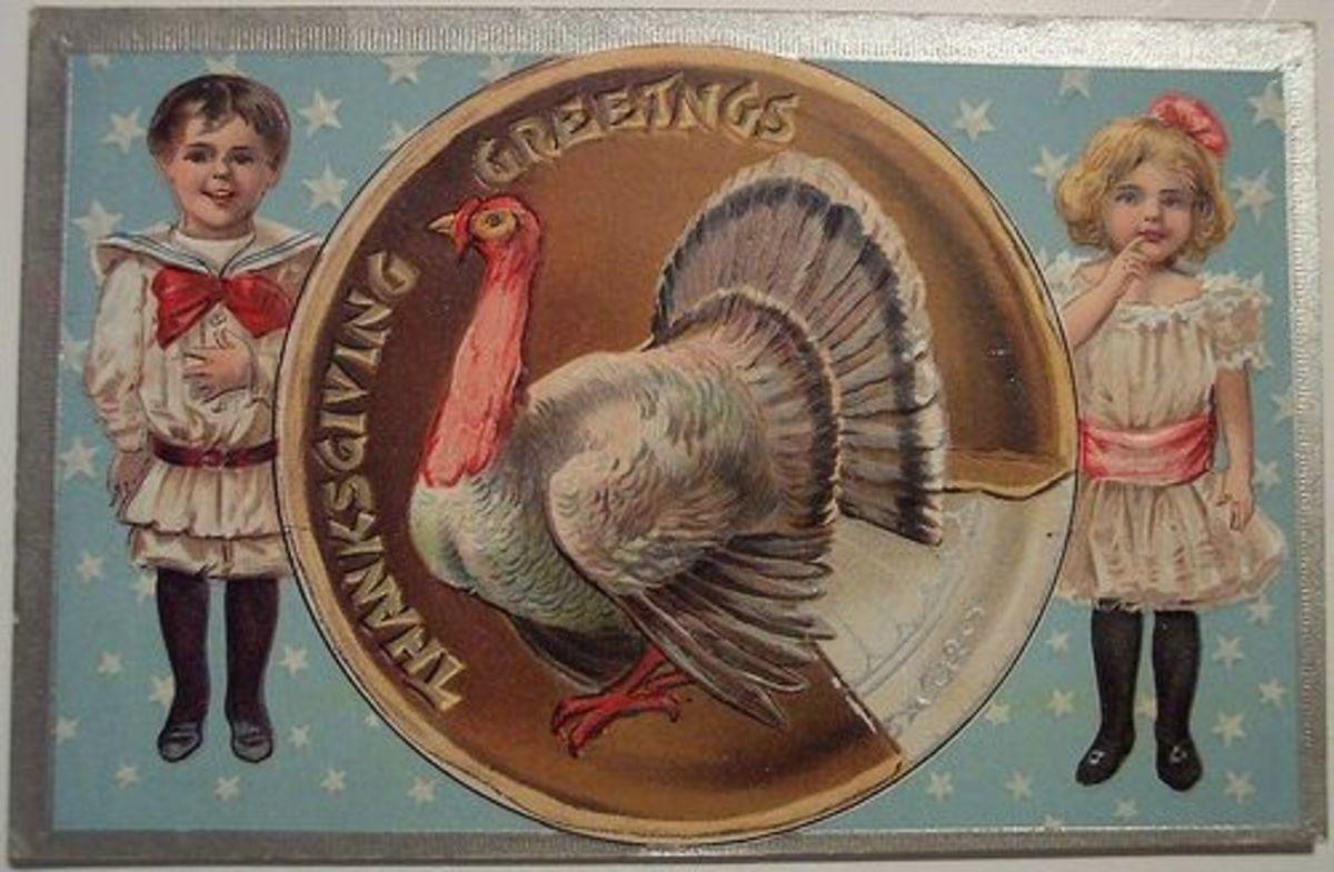 Vintage Fall Postcard