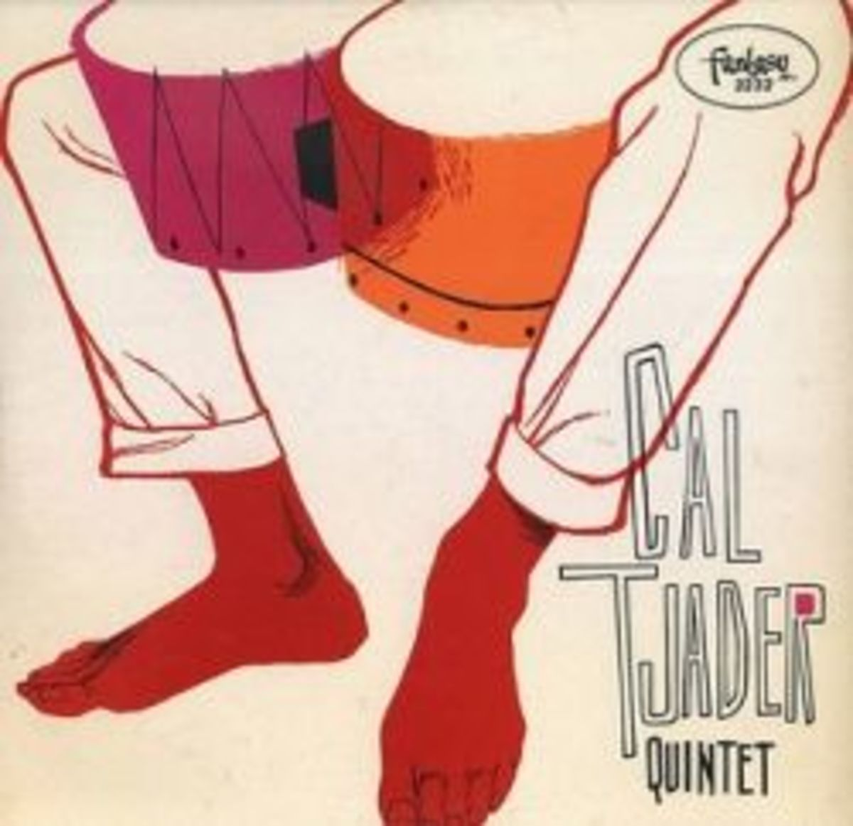 "Cal Tjader Quintet ""Cal Tjader Quintet"" Fantasy Records 3232 12"" LP Red Vinyl Record US Pressing (1956)"