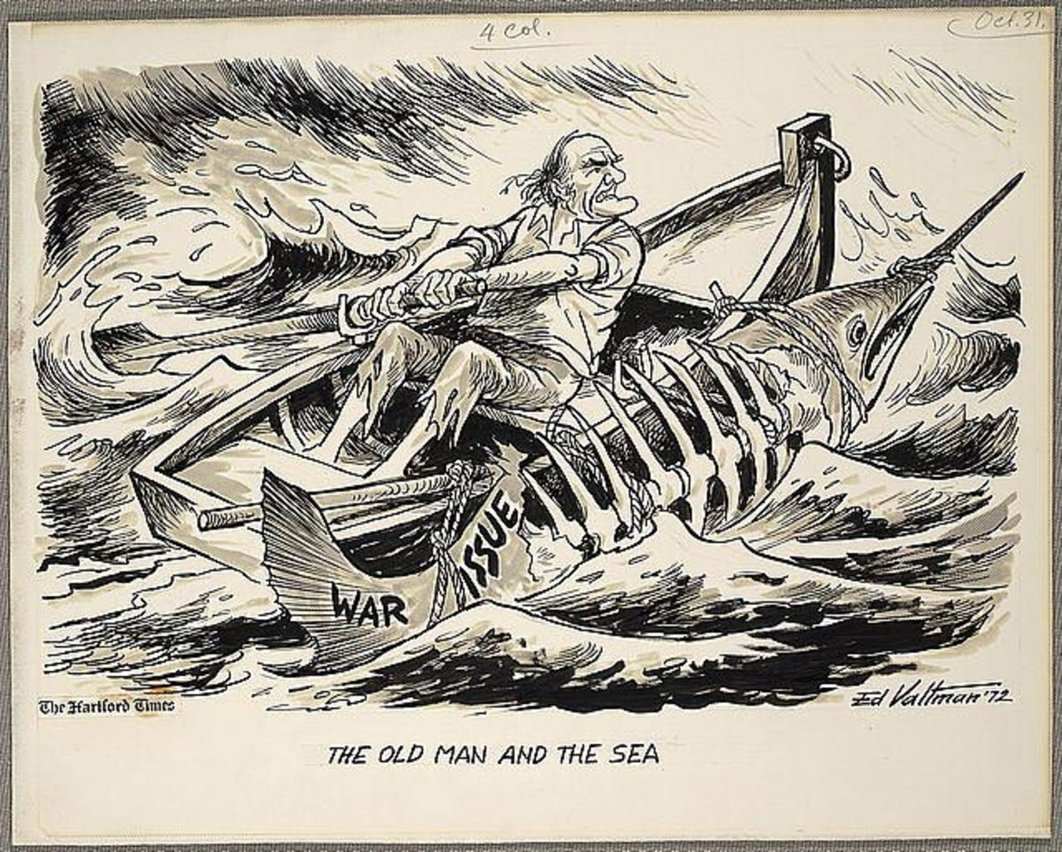 The old man and the sea are characters used in many eras, but the LBJ Era  is of the same time period as the Hemingway story.