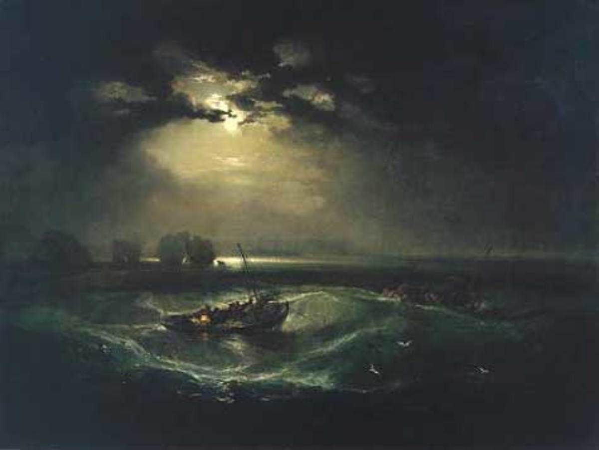 Fishermen at Sea (1796) by J.M.W. Turner (public domain)
