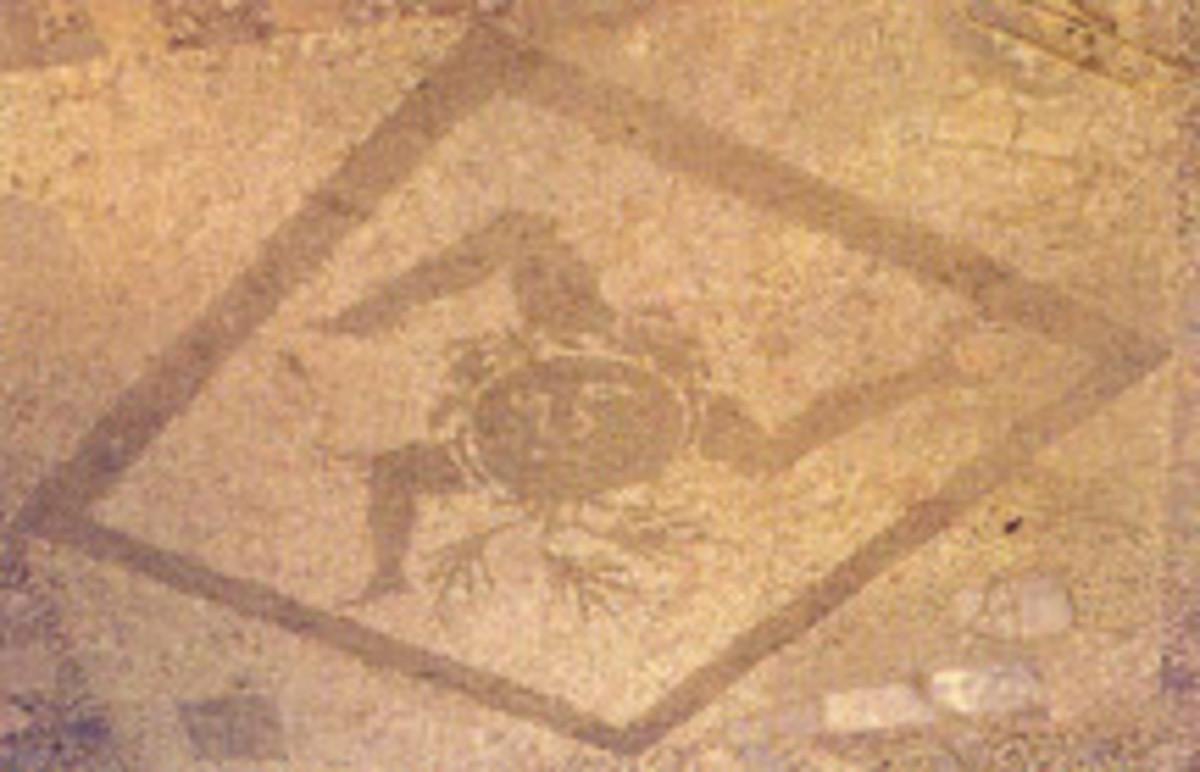 Roman Travertine Mosaiic