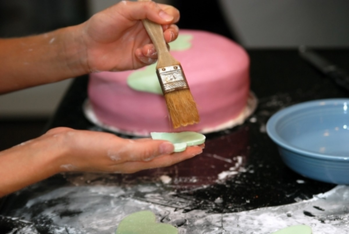 Applying Fondant Decorations