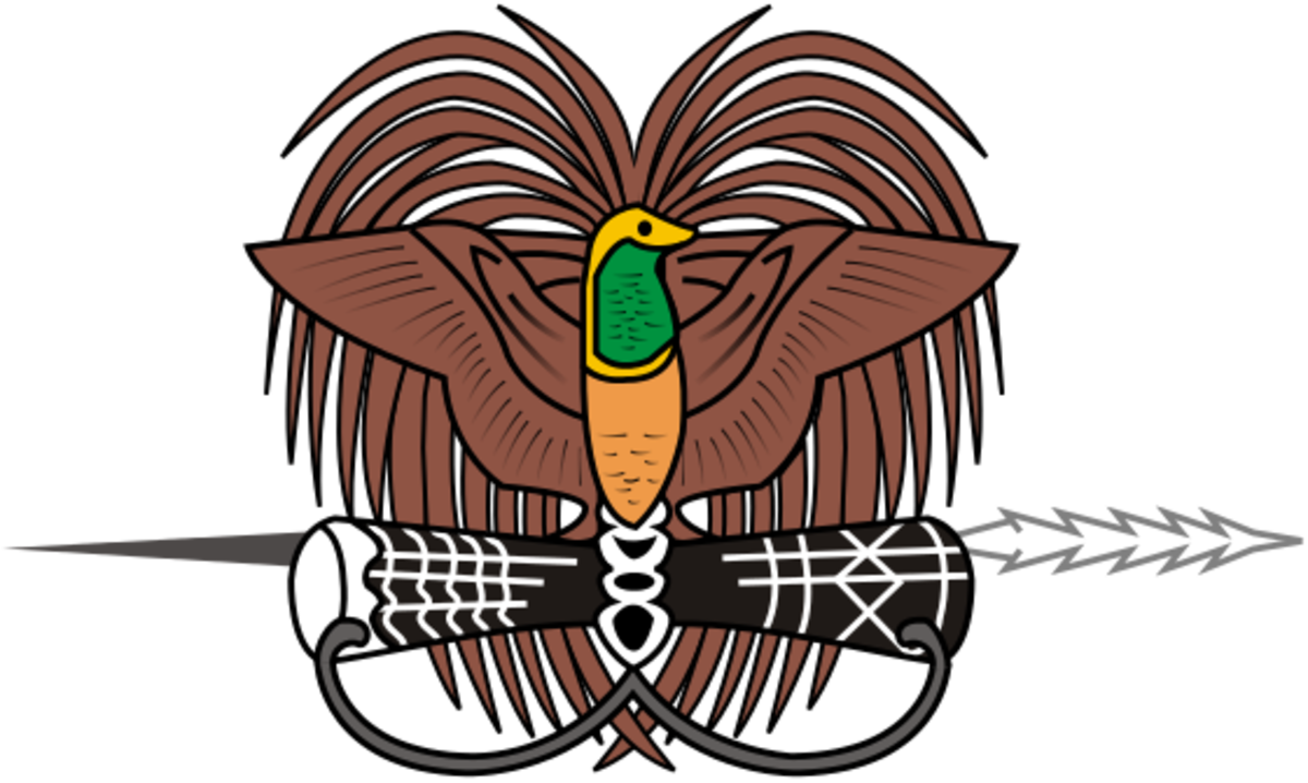 Papua New Guinea National Coat of Arms, representing Aboriginal Peoples