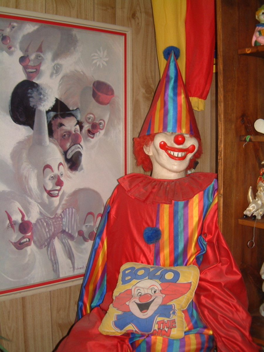 The terrifying front office of the Clown Motel located in Tonopah.