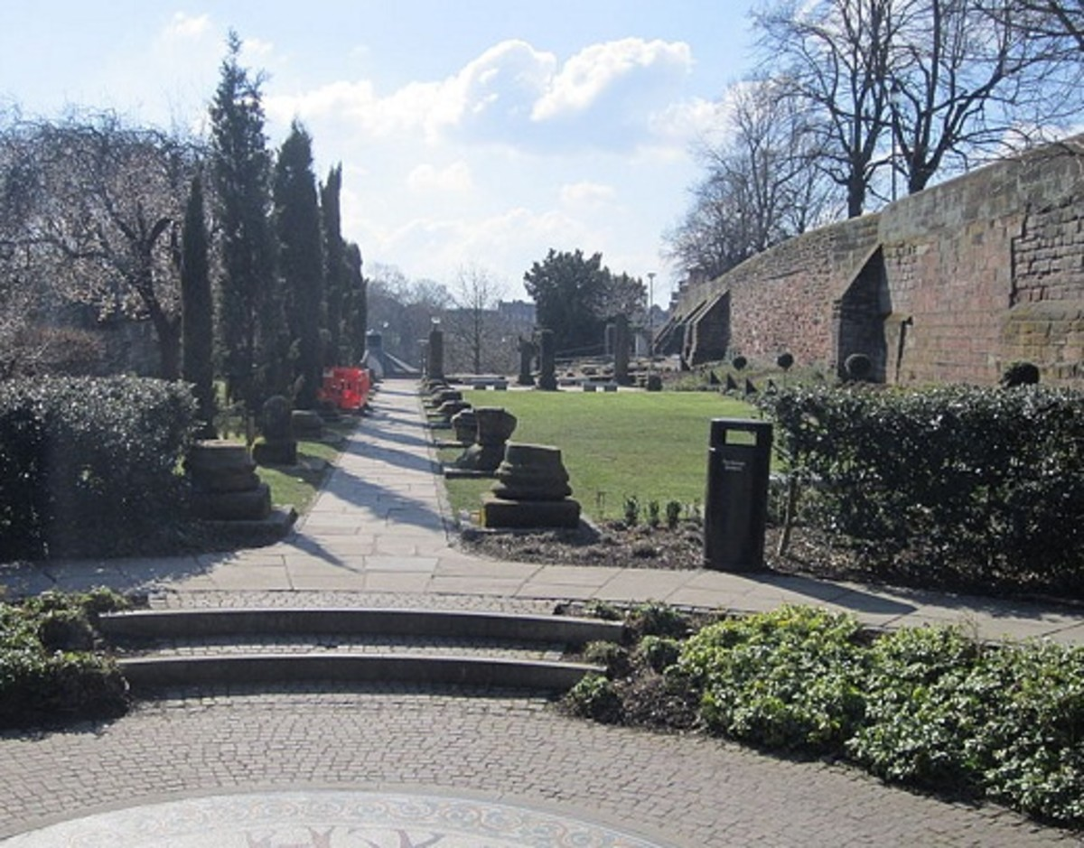 Roman remains in Chester's Roman Gardens