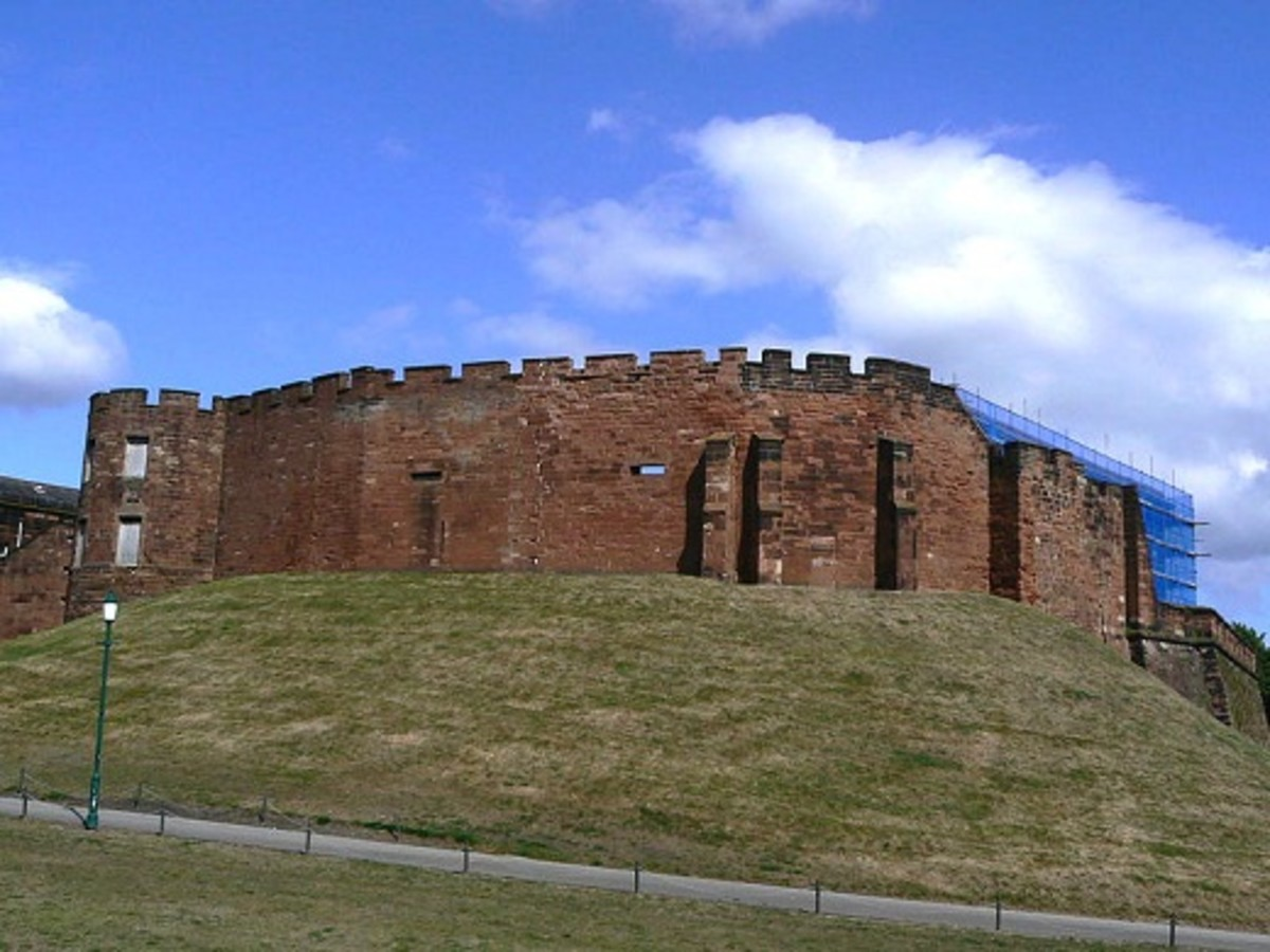 Walls of Chester Castle