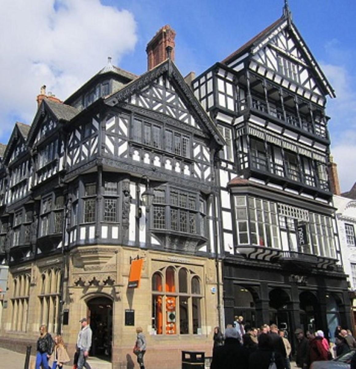 Buildings on Eastgate Street, Chester, UK