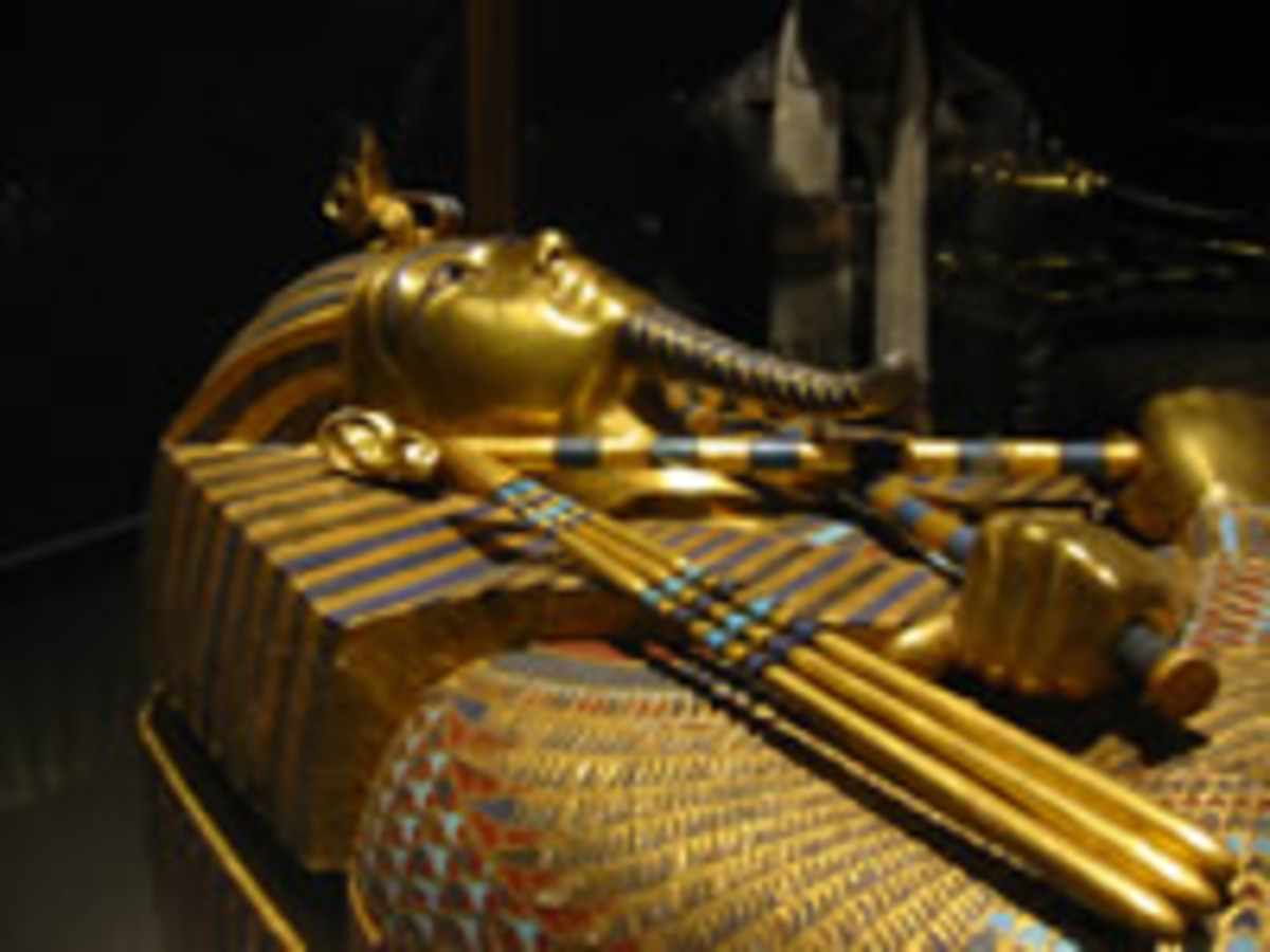 The King Tut sarcophagus, one of many relics housed in the Egyptian Museum