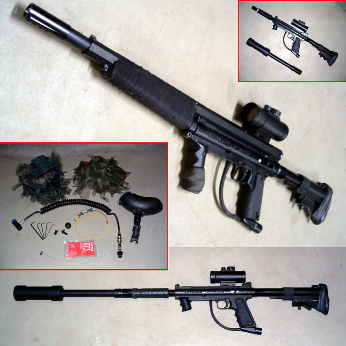 The Tipmann Sniper Rifle is pretty sweet, makes the best paintball gun!