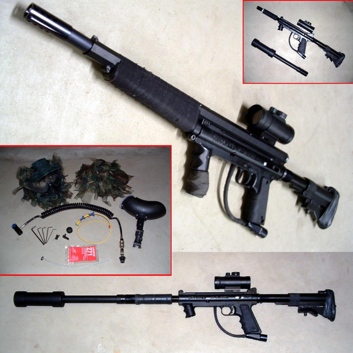 ... Tipmann Sniper Rifle is pretty sweet, makes the best paintball gun