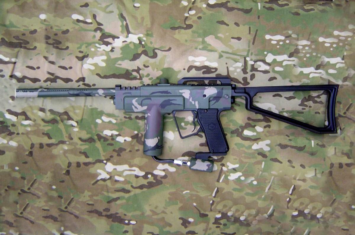 Spyder MR2, Customized baby, still the runner up in the best paintball gun Category.!