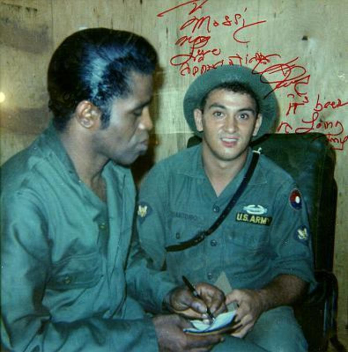 Brown with soldier in 'Nam