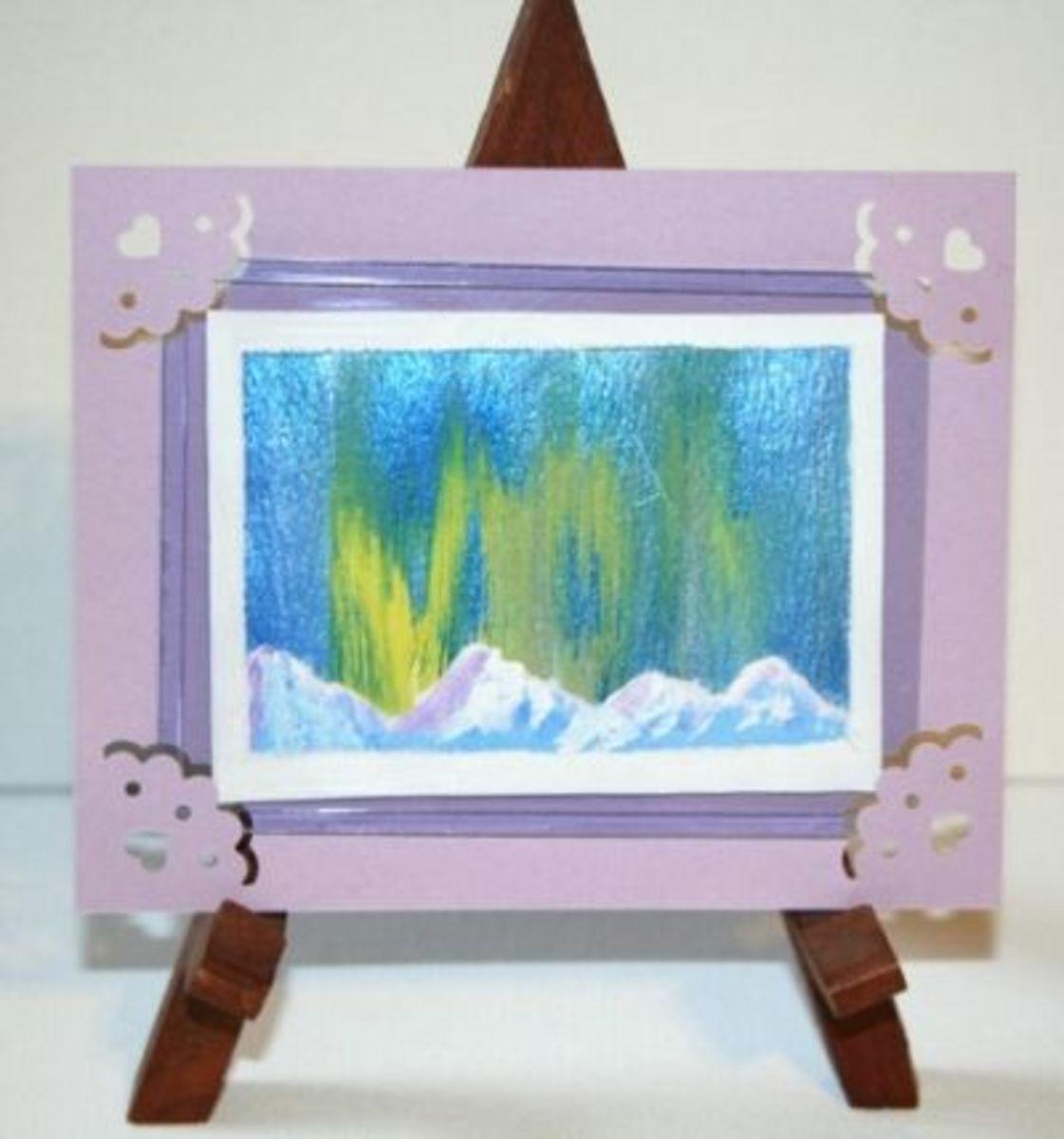 Framed on an easel