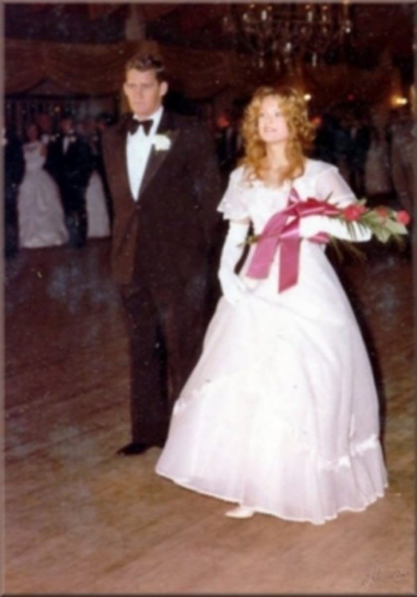 Medina County Cotillion,  May 1975 - The Debutante With Her Father at The Chippewa Lake Ballroom