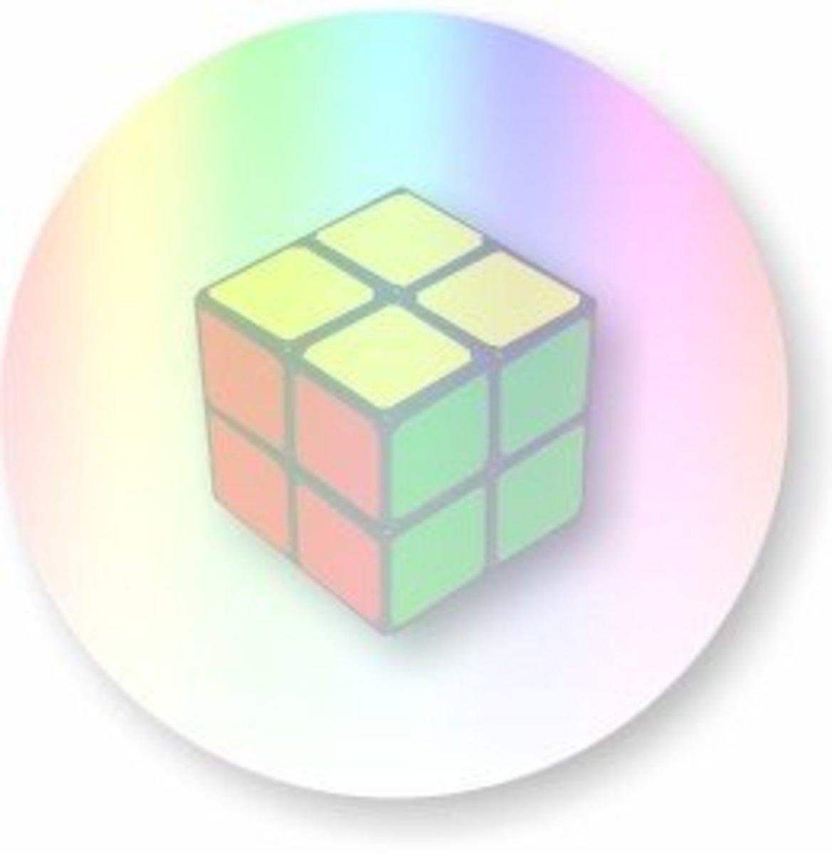 How To Solve A 2x2x2 Rubiks Cube - Mini Cube - 2x2 Rubik's Cube Solution