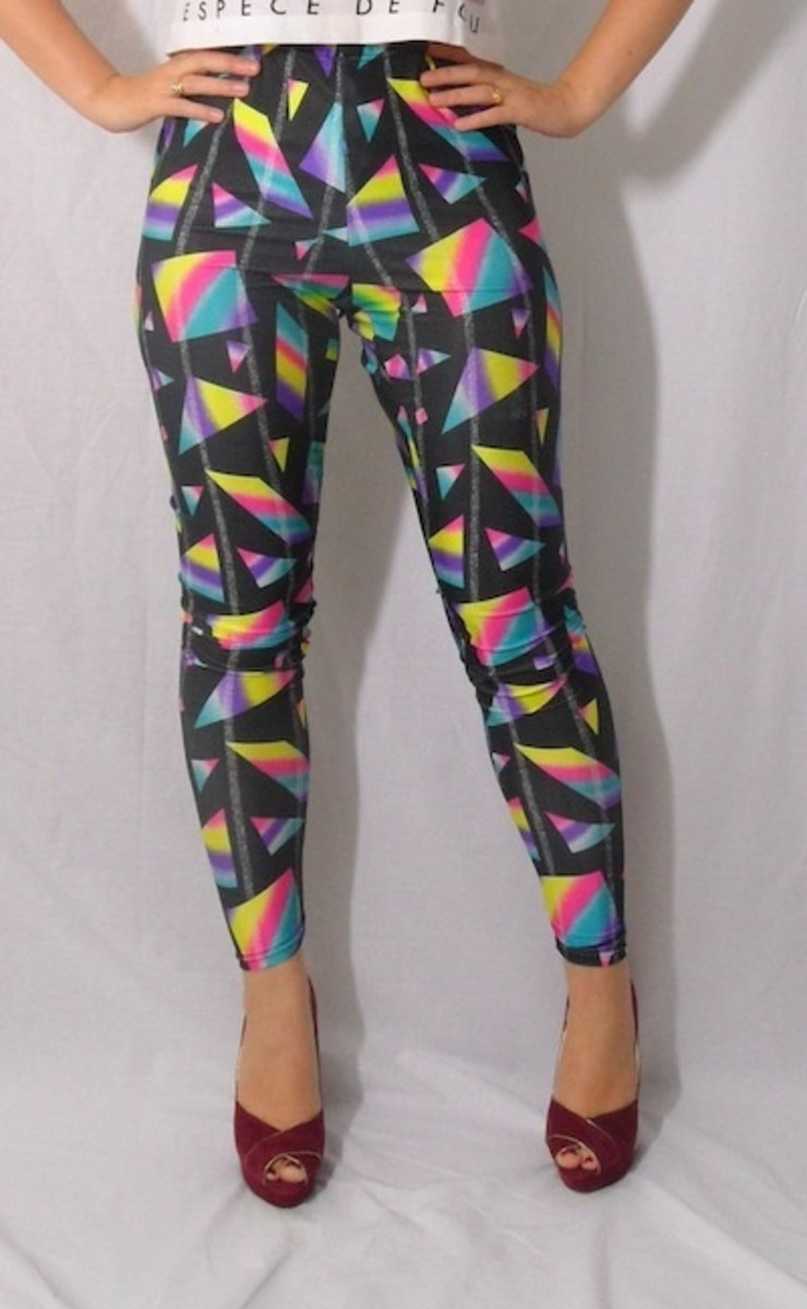 Vintage 80's Nylon Dance LEGGINGS!