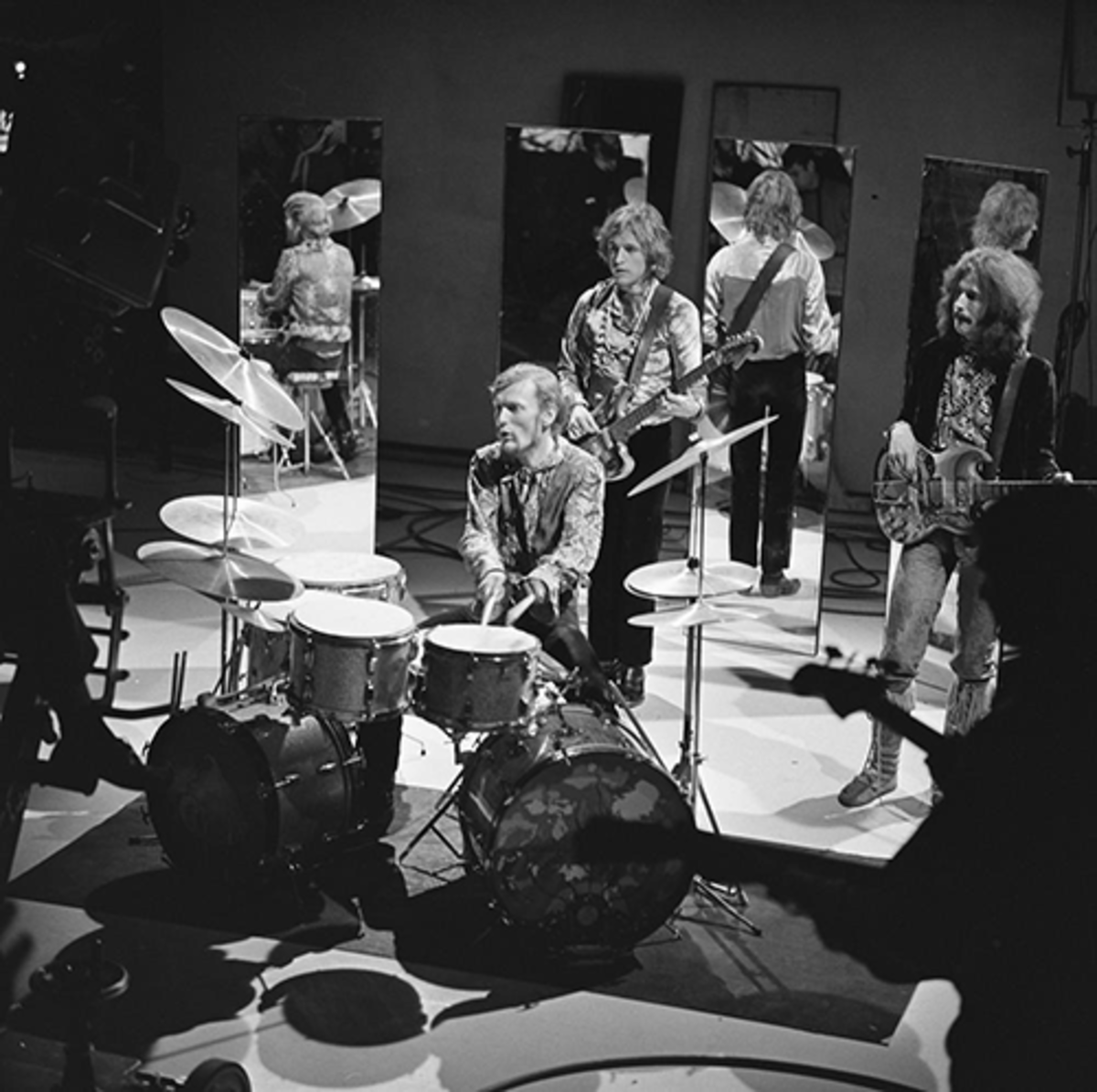 Cream performing on TV in 1968