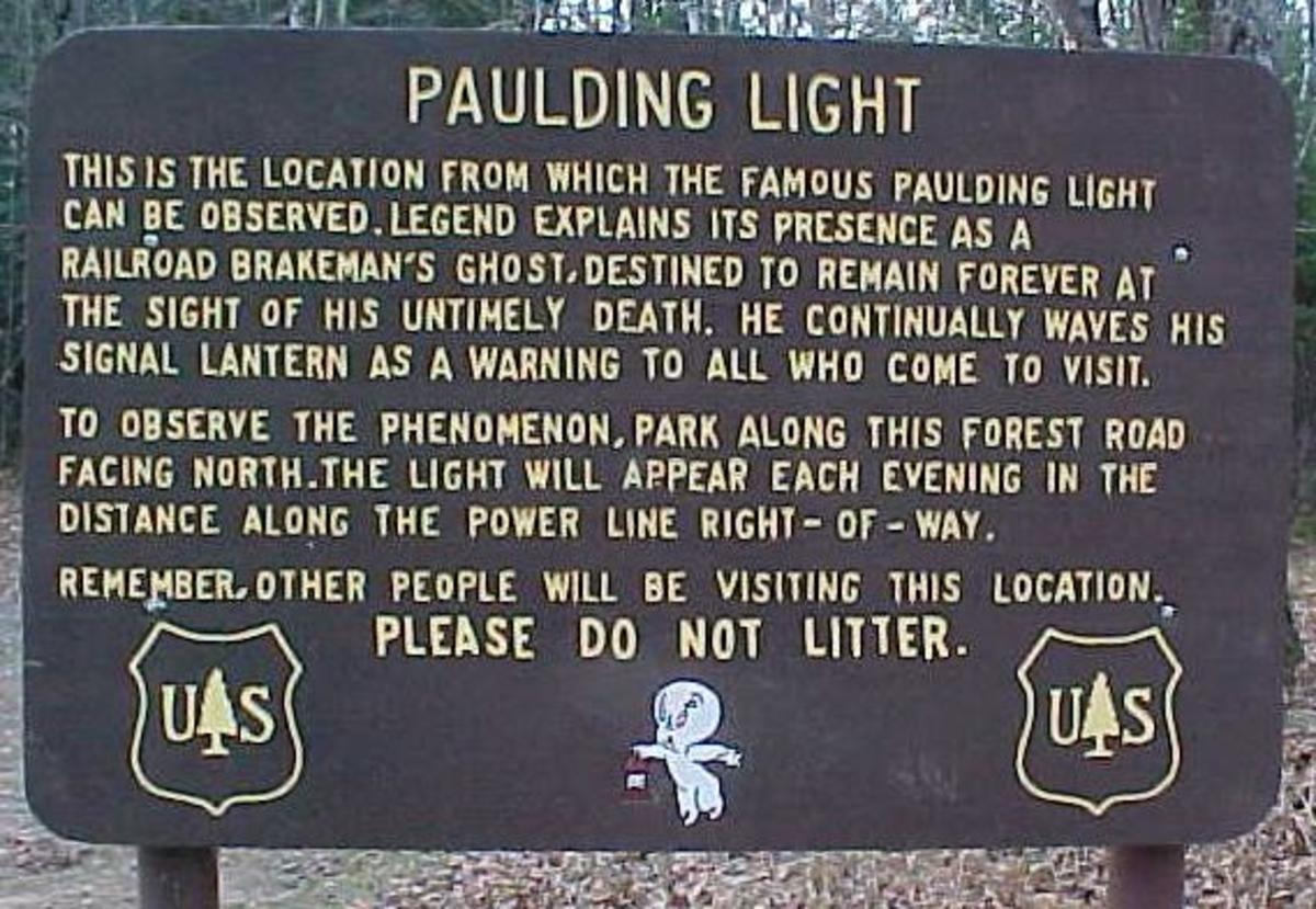 The Strange Light Of Watersmeet, Paulding Light