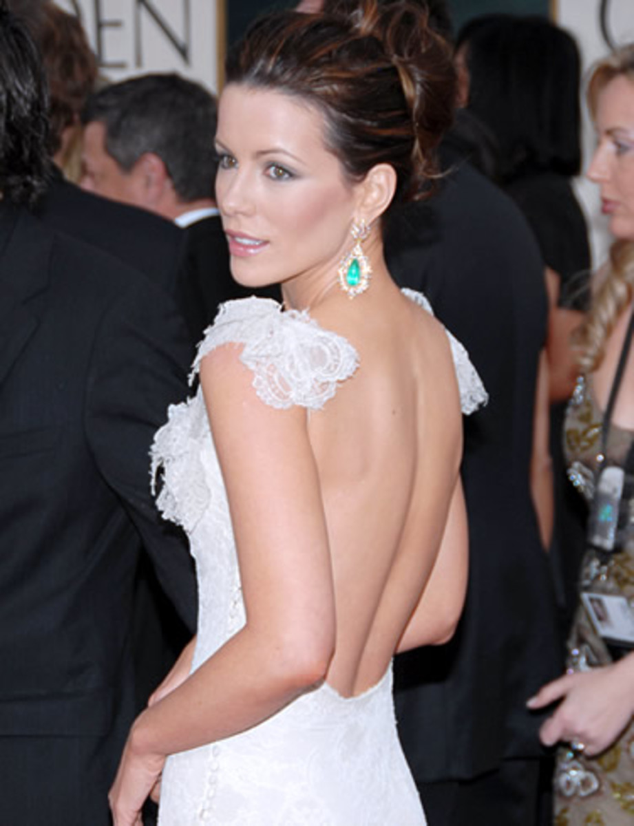 kate beckinsale short updo hairstyles for long faces
