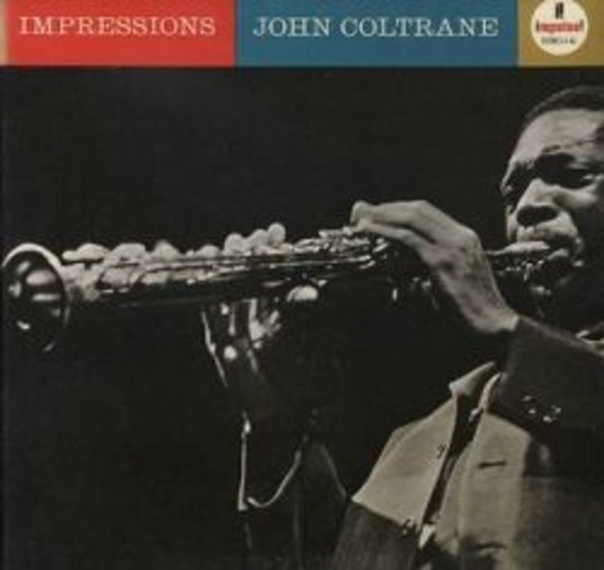"John Coltrane ""Impressions"" Impulse Records A-42 12"" LP Vinyl Record"