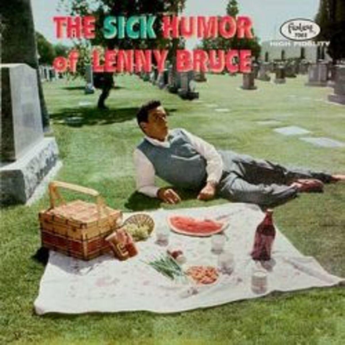 "Lenny Bruce ""The Sick Humor of Lenny Bruce"" Fantasy Records 7003 12"" LP Red Vinyl Record"