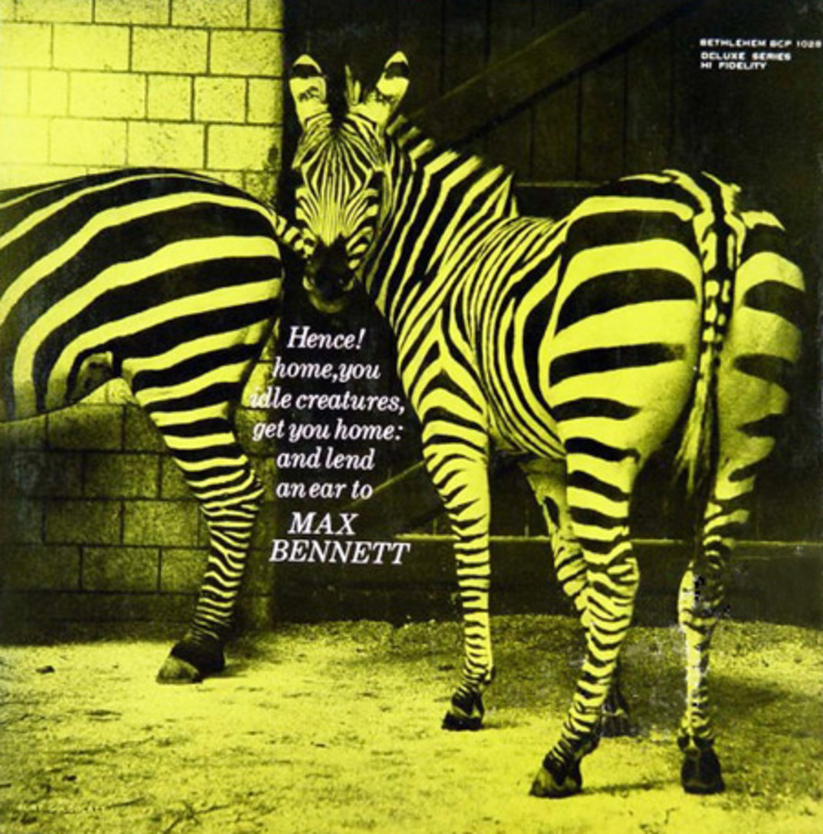 "Max Bennett Quintet with Charlie Mariano Bethlehem Records BCP 1028  10"" LP Vinyl Record (1954) Album Cover Art by Burt Goldblatt"