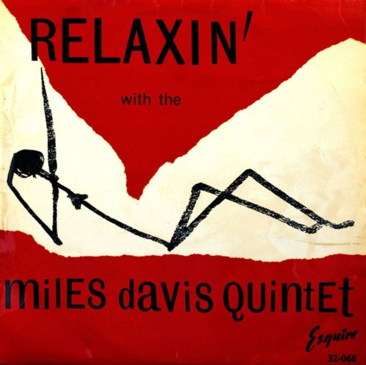 "Miles Davis ""Relaxin' with Miles Davis Quintet"" Esquire Records 32-068 12"" LP Vinyl Record 1956"