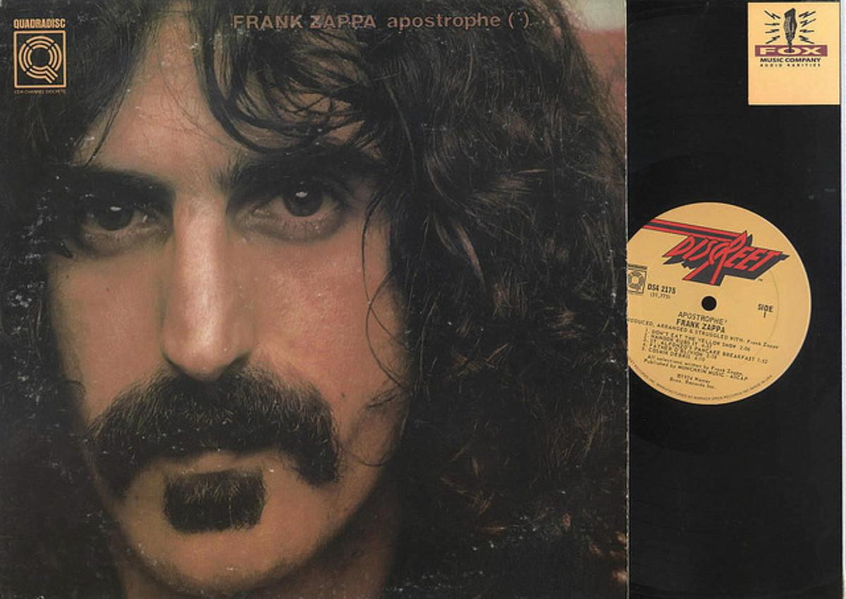 Frank Zappa Apostrophe Quad DiscReet Records DS4 2175 Quadradisc front