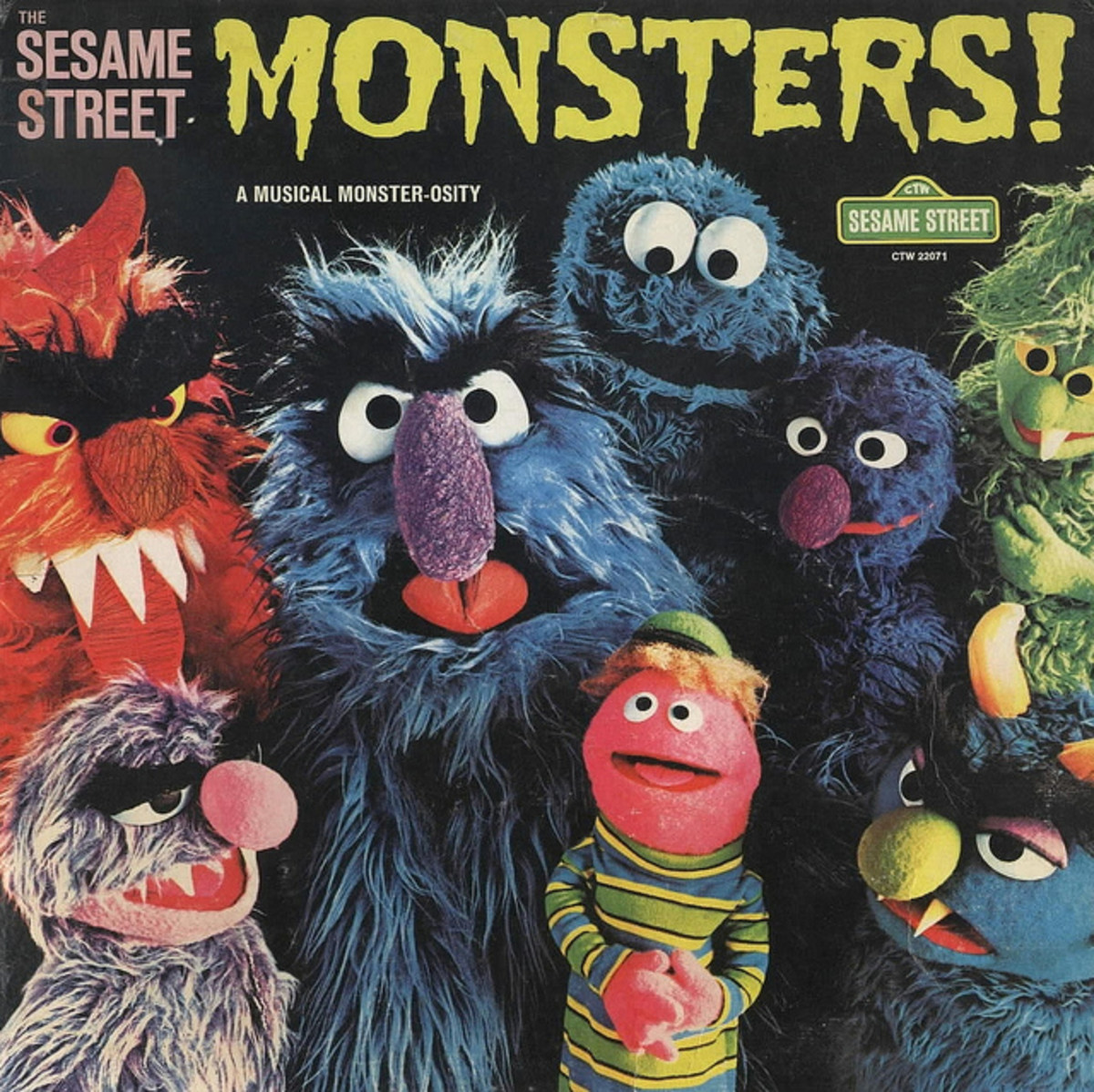 "Sesame Street ""Monsters! A Musical Monster-Osity"" Childrens Television Workshop CTW 22071 12"" LP Vinyl Record (1975) Jim Henson"