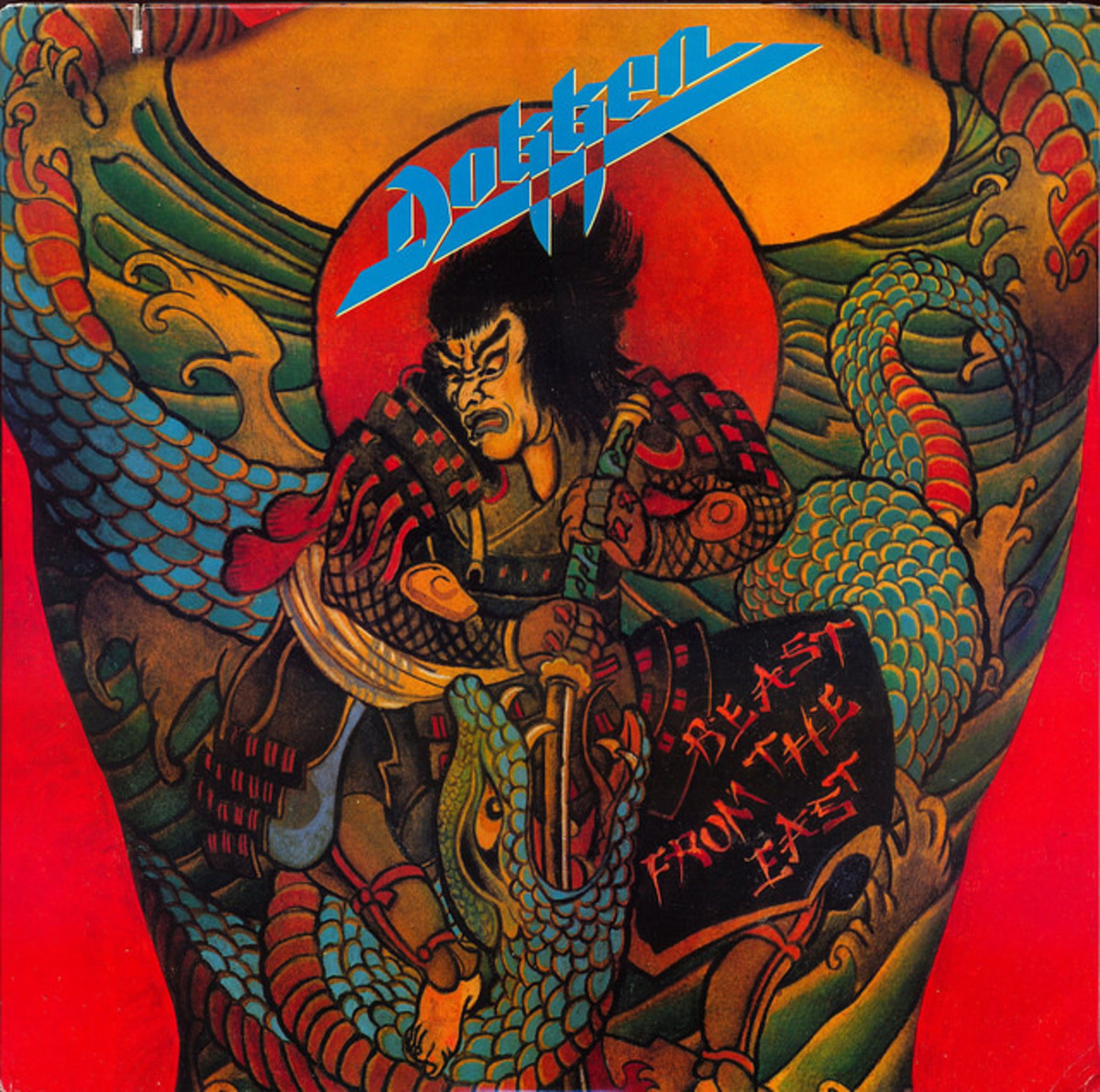 "Dokken ""Beast From The East"" Elektra 60823-1 12"" Vinyl Record (1988) US Pressing"