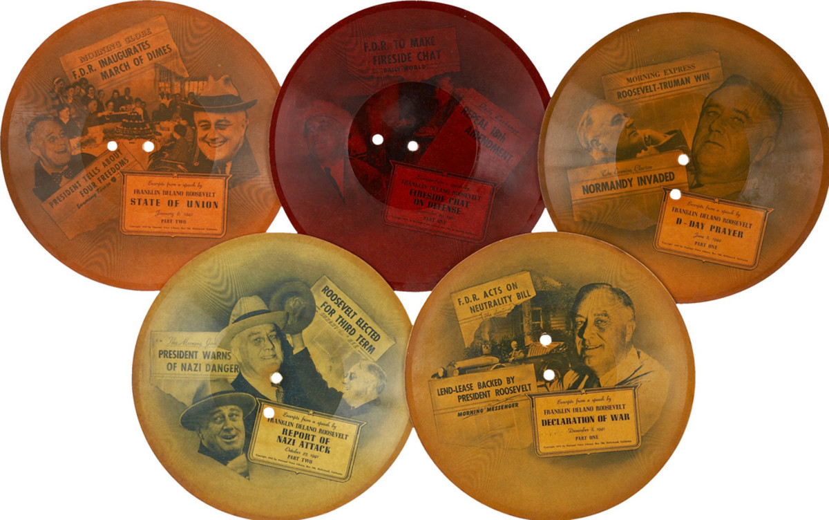 Franklin D. Roosevelt: Five 1945 Recordings of Excerpts of Famous FDR Speeches
