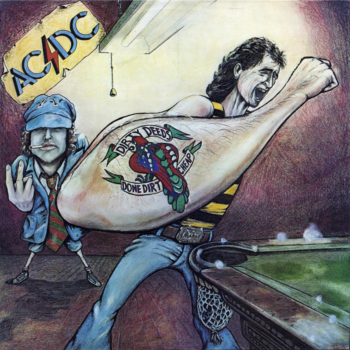 "AC-DC ""Dirty Deeds Done Dirt Cheap"" Australia Albert Productions, APLP-020 12"" Vinyl Record (1977) Australian Pressing"