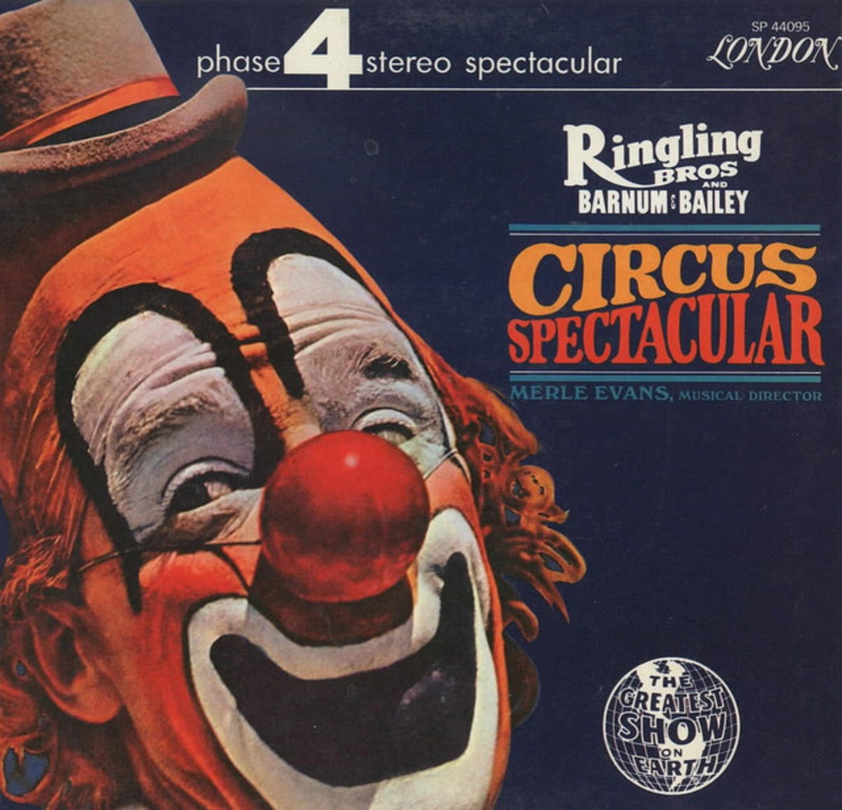 "Ringling Bros. Barnum and Bailey ""Circus Spectacular"" London 4 Phase Records SP 44095 12"" Vinyl Record"