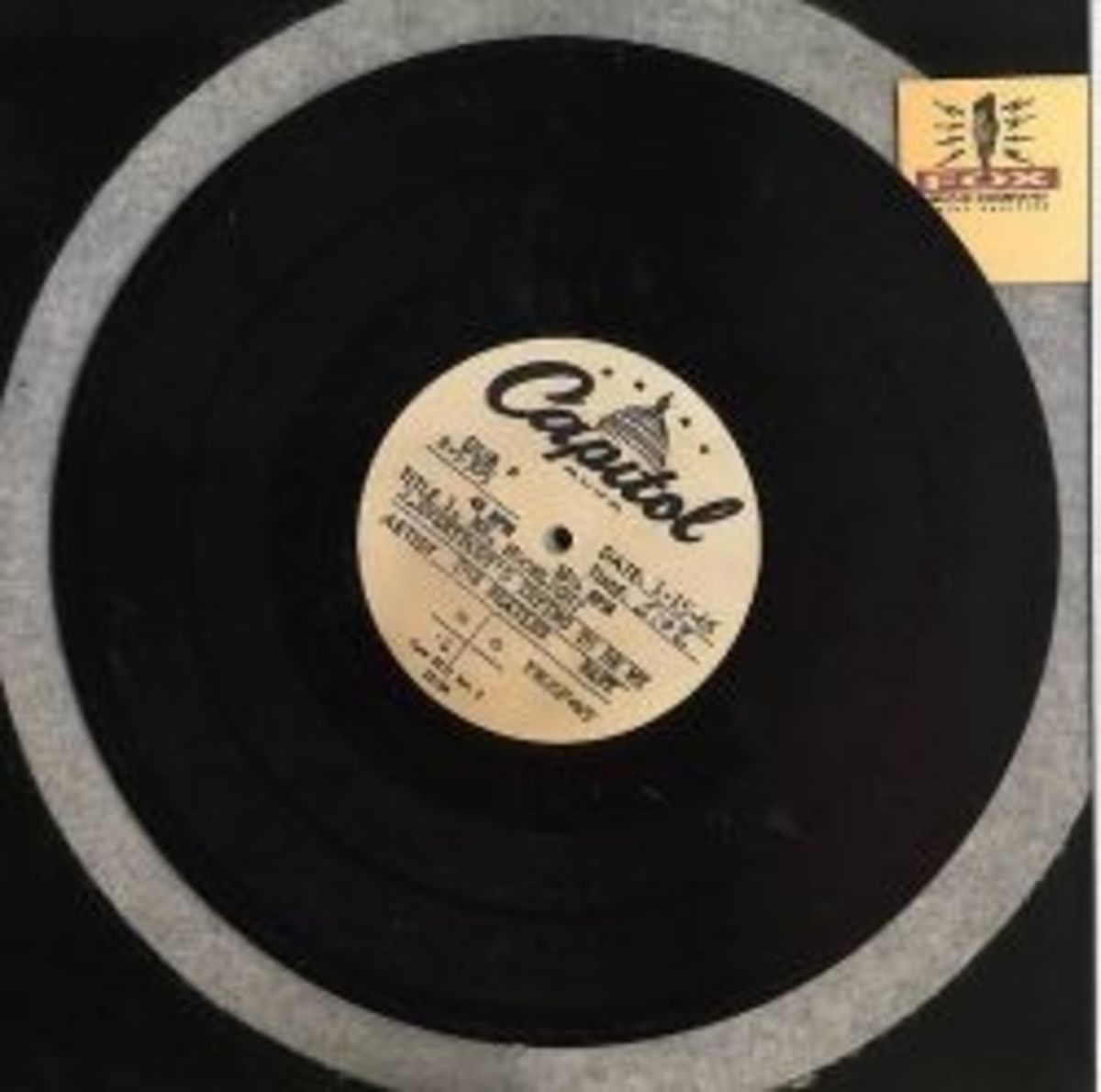 """the Beatles Capitol Records Reference Disc 10"""" Aluminum Acetate Side 1"""
