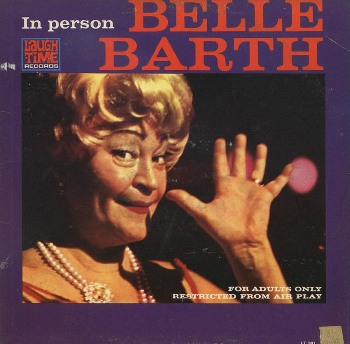 "Belle Barth ""In Person""  Laugh Time Records LT 901 12"" LP Vinyl Record (1962)"