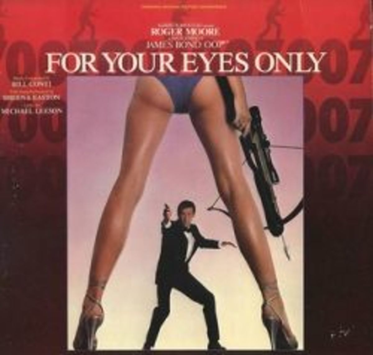 """James Bond """"For Your Eyes Only"""" Liberty Records 1109 LP Vinyl Record Soundtrack Roger Moore 007"""