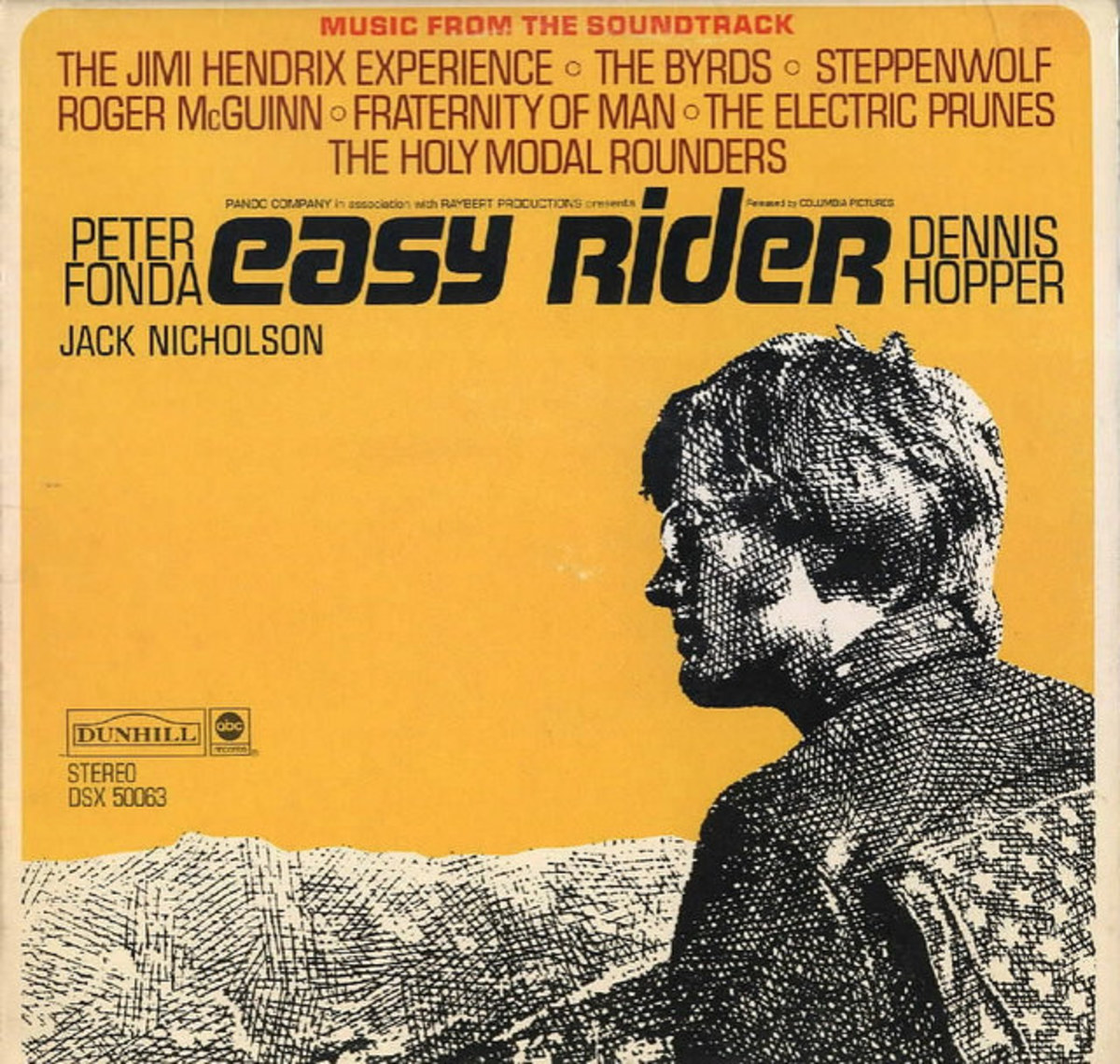 "Easy Rider ABC Dunhill Records DSX 5083 12"" Vinyl Record, Original Soundtrack Recording US Pressing (1969) Peter Fonda, Dennis Hopper, Jack Nicholson"