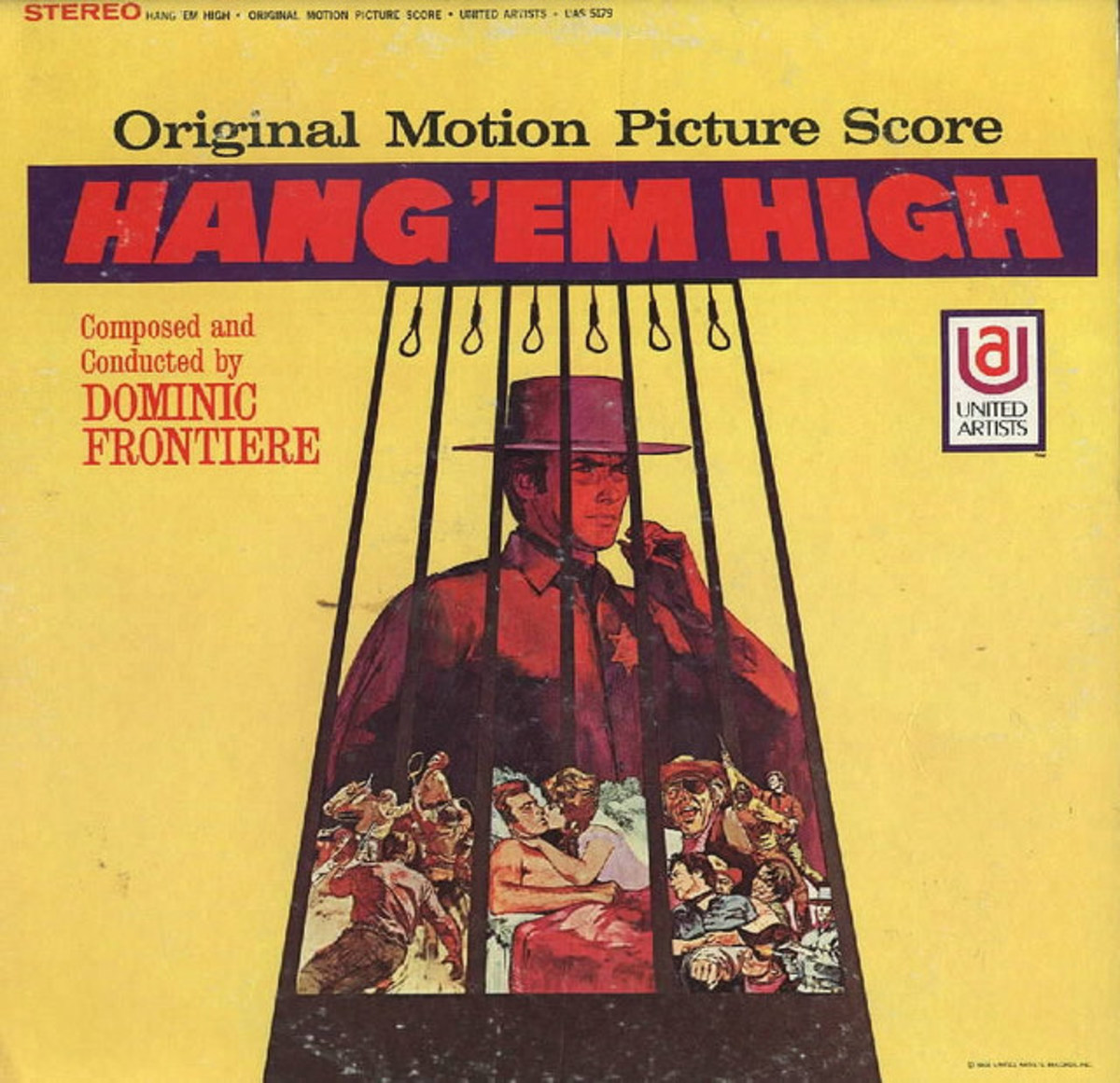 "Clint Eastwood ""Hang 'Em High"" United Artists Records UAS 5179 12"" Vinyl Record US Pressing (1968) Clint Eastwood"