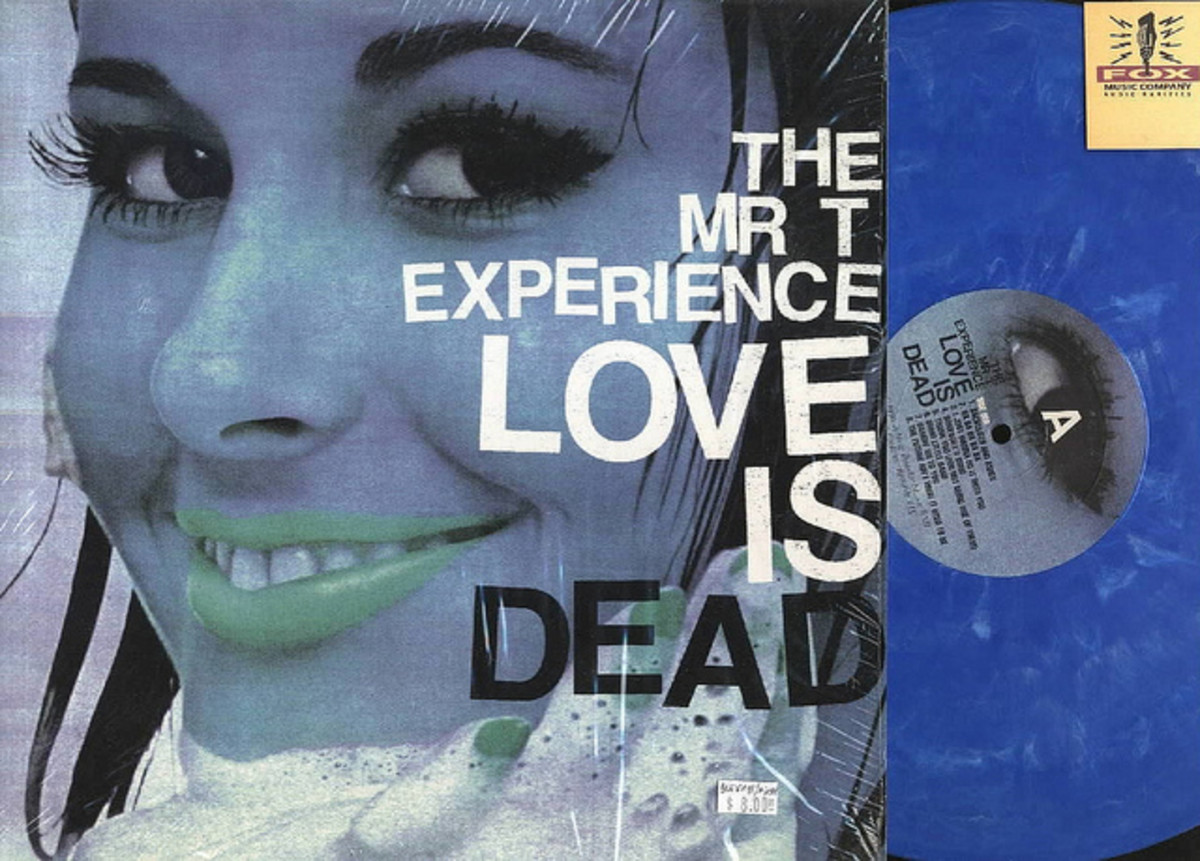 "MR. T Experience MTX ""Love Is Dead""  Lookout! Records  LP Blue Vinyl Record (1996)"