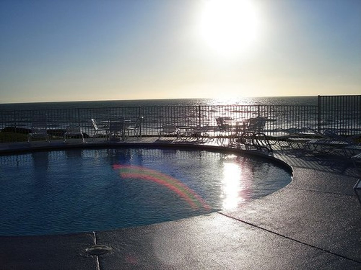 View from Wave Crest Resort, Del Mar, CA