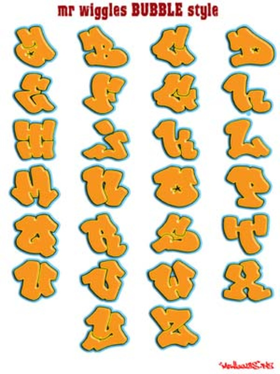 how to write the alphabet in graffiti letters