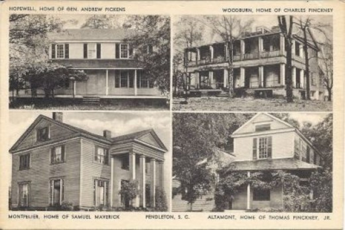 Homes Around Pendleton Old Postcard compliments of Jerry Sloan