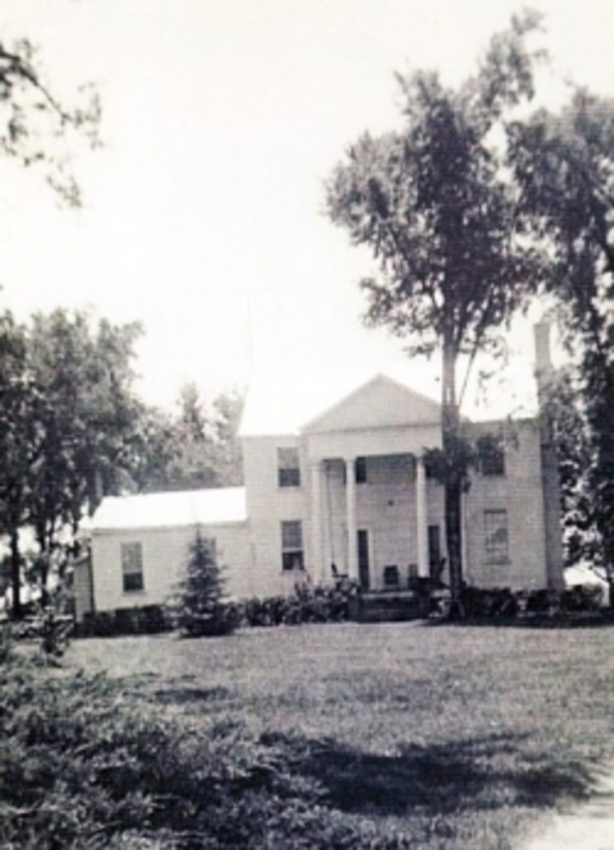 Photo Credit: An old photo of the Pickens House which stood right outside Pendleton where the Quattlebaums live-more information on this house below.