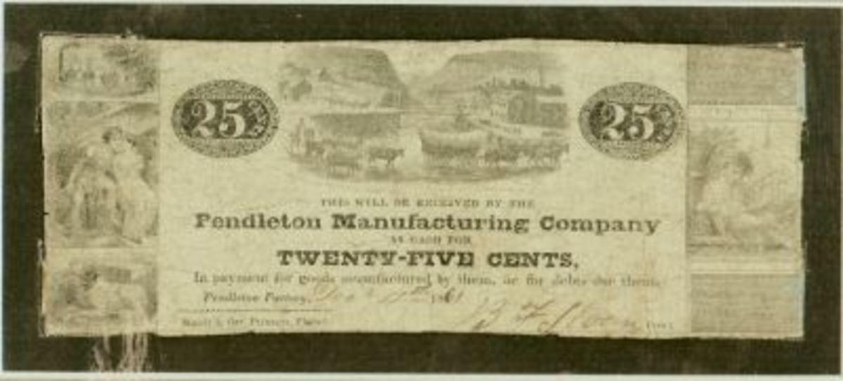 Original 25 cent Script Note dated 1861