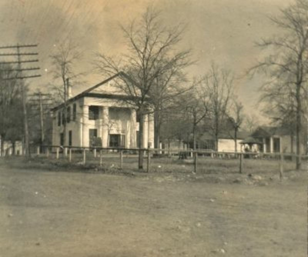 Farmers Hall in the 1920s - notice the black trim