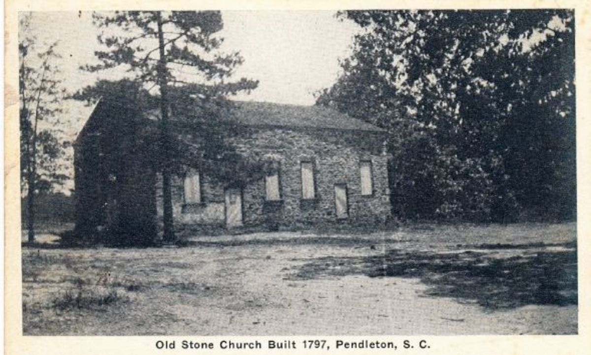 Old Stone Church Vintage Postcard