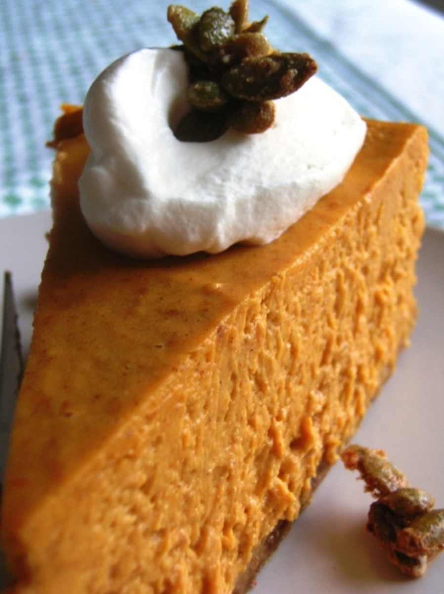 Pumpkin chiffon cake with nutmeg sauce