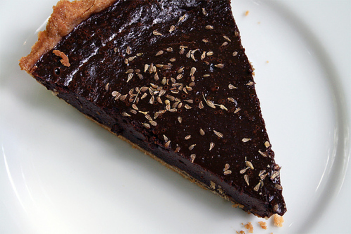 Chocolate peanut butter pecan tart recipe