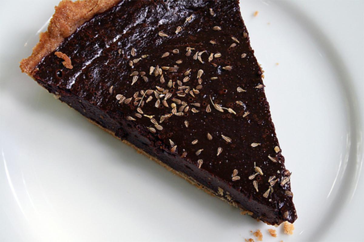 Chocolate peanut butter pecan tart recipe